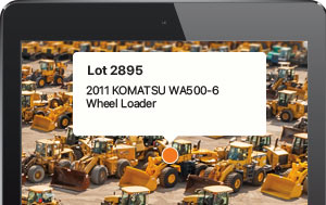 Locate equipment at the auction site with our new Wayfinding feature